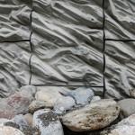 Mur en béton, contournement Thônon les Bains